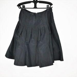 Kay Unger Black Pleated Skirt